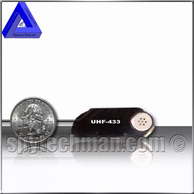 UHF PLL 9V quartz controlled micro transmitter