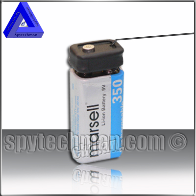 UHF long timelife batteries bug spy 9V